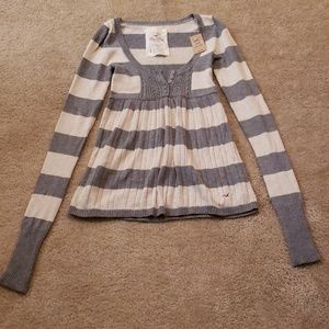 NWT Hollister Stripe Sweater